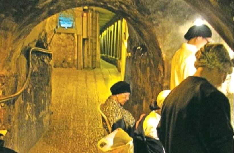 THE WESTERN WALL tunnel (photo credit: Wikimedia Commons)