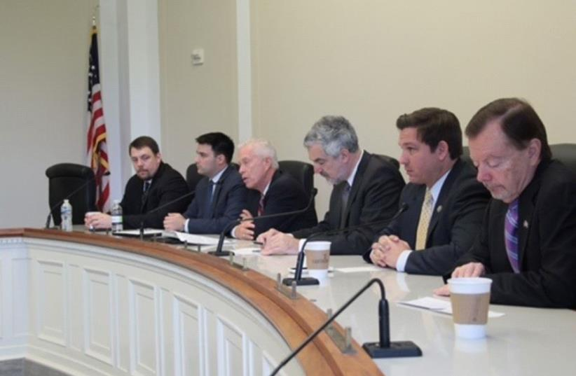 MEF Leadership participate in Congressional Israel Victory Caucus, April 2017 (photo credit: ISRAEL VICTORY FORUM)