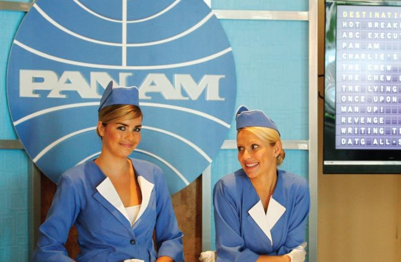 A BOOTH set up to resemble a Pan American World Airlines ticket counter promotes the television series 'Pan Am,' in Beverly Hills, in 2011. The airline that can provide the best customer services experiences will stand out among the crowd, giving it a competitive advantage that will lead to customer (photo credit: FRED PROUSER/REUTERS)