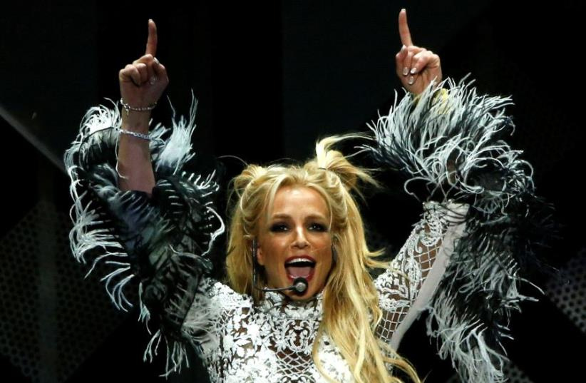 Britney Spears performs at iHeartRadio Jingle Ball concert at Staples Center in Los Angeles, California U.S., December 2, 2016 (photo credit: REUTERS)