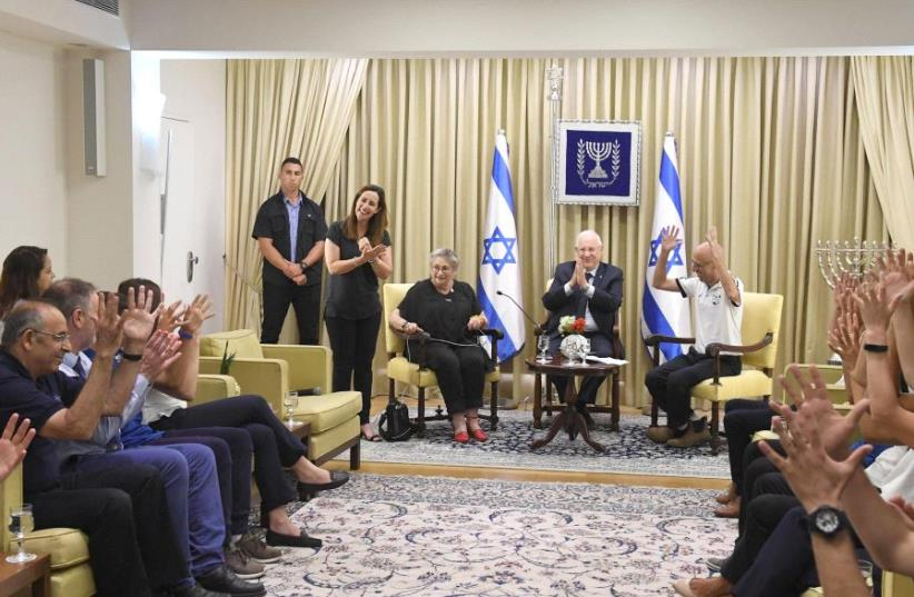 President Reuven Rivlin with the Israeli Deaflympic team before the competition in Turkey in July 2017. (photo credit: PRESIDENTIAL SPOKESPERSON OFFICE)