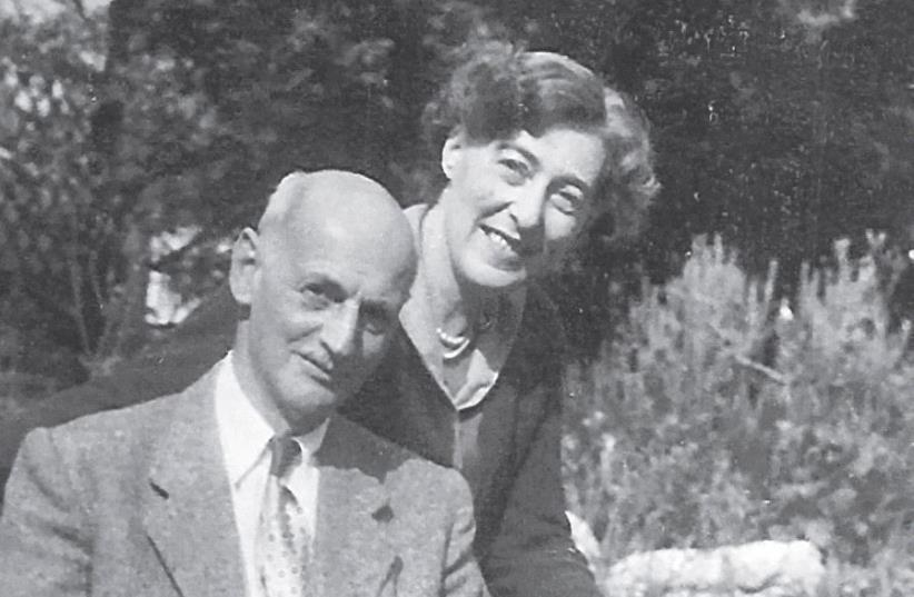 Otto and Fritzi Frank in London, 1957 (photo credit: EVA SCHLOSS)