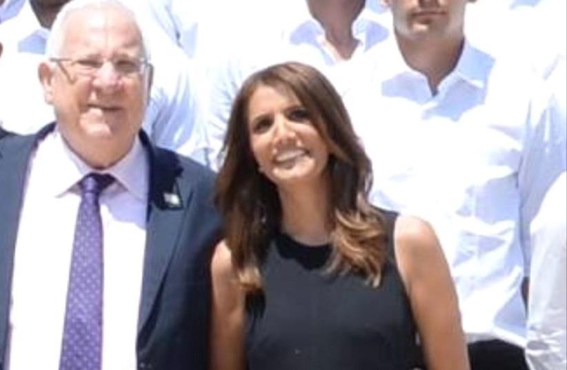 President Rivlin and Alona Barkat (photo credit: MARK NEYMAN / GPO)