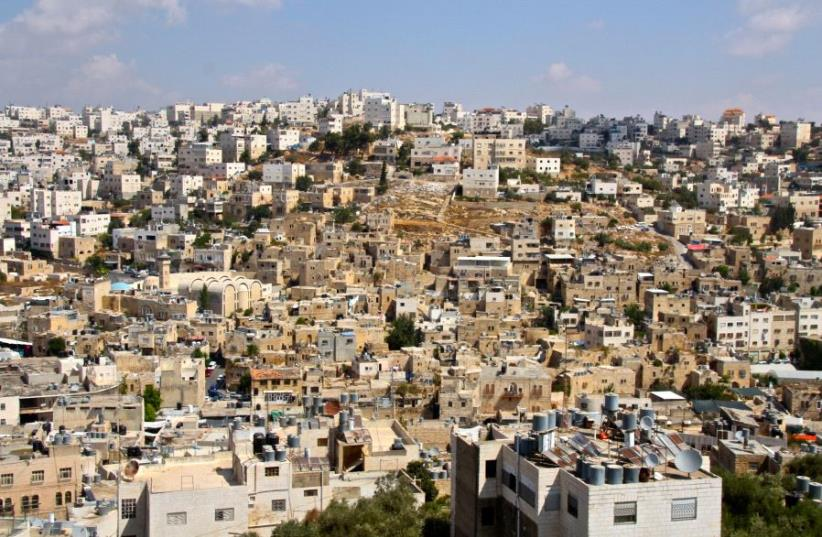 The Old City of Hebron as seen from the Tel Rumeida neighborhood (photo credit: TOVAH LAZAROFF)