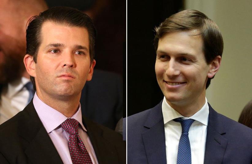 Trump Jr. and Kushner (photo credit: REUTERS)