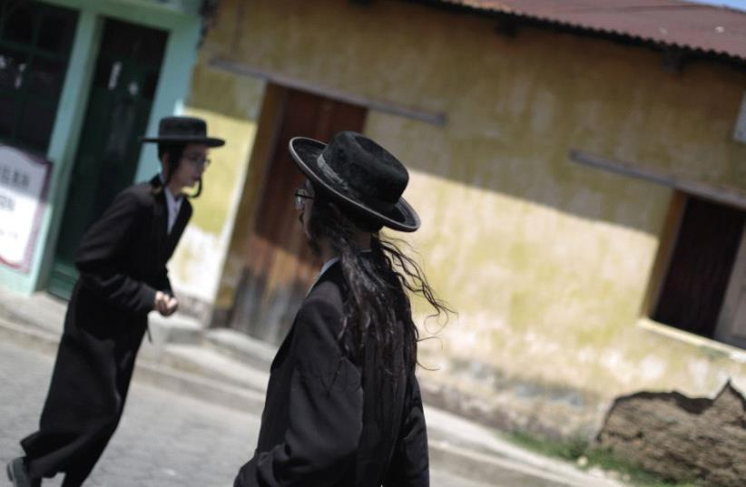 Members of Lev Tahor in Guatemala (photo credit: JORGE LOPEZ)