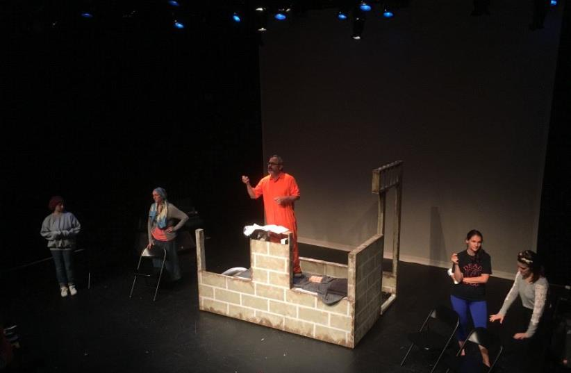 'Conservative Fictions' play, 2017 (photo credit: DAVID BLUE)