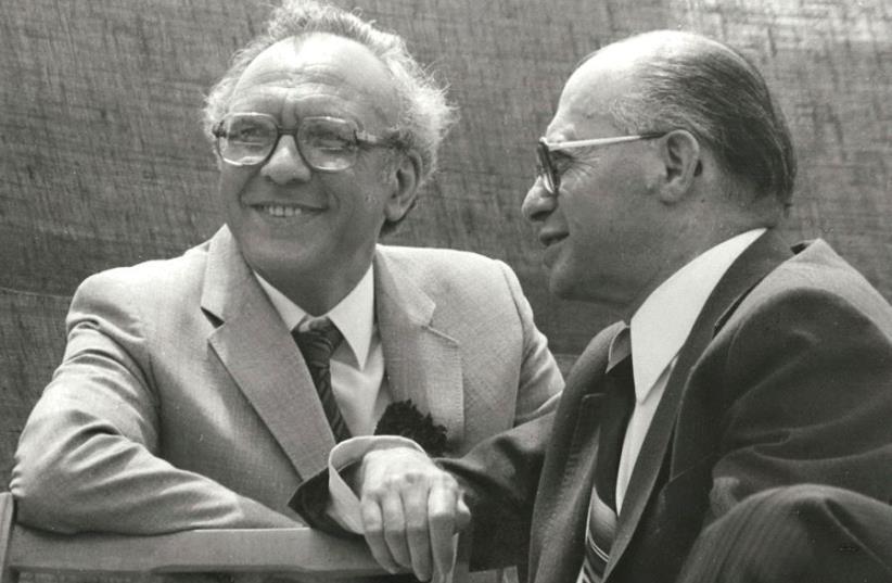 Former prime minister Menachem Begin (right) with the writer, Avraham Avi-hai (photo credit: COURTESY AVRAHAM AVI-HAI)