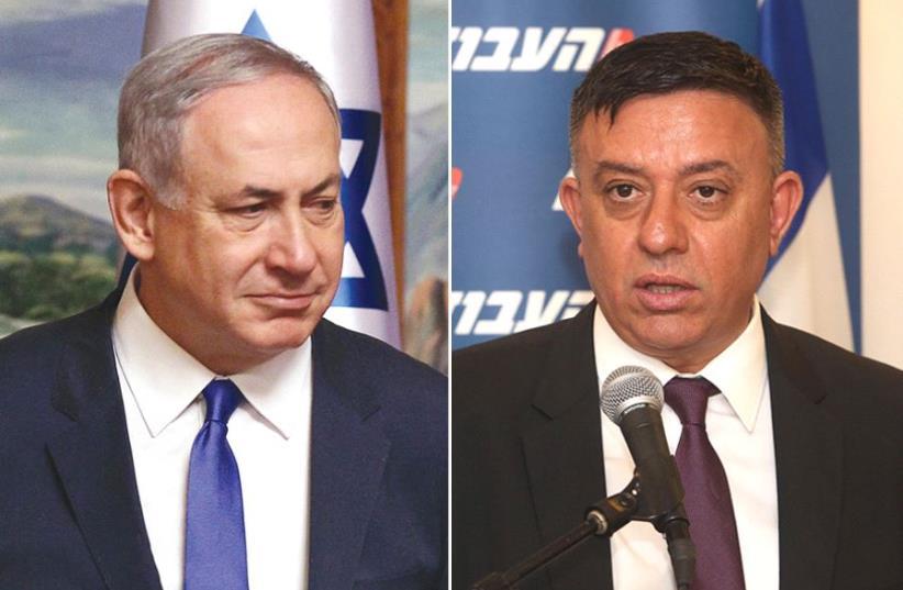 Netanyahu and Gabbay (photo credit: MARC ISRAEL SELLEM,REUTERS)
