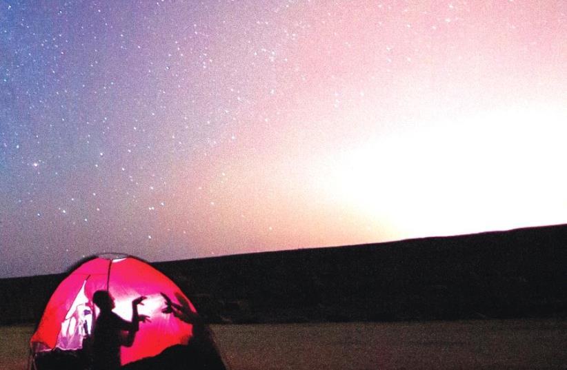 Under the stars in Mitzpe Ramon (photo credit: MARIK SHNITMAN)