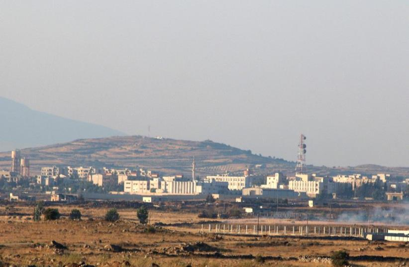 A general view shows Baath city, bordering the Israeli Golan Heights, Syria June 24, 2017.  (photo credit: REUTERS)