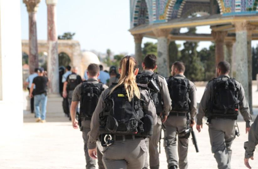 Border Police at sight of terror attack on Temple Mount July 14 (photo credit: ISRAEL POLICE)