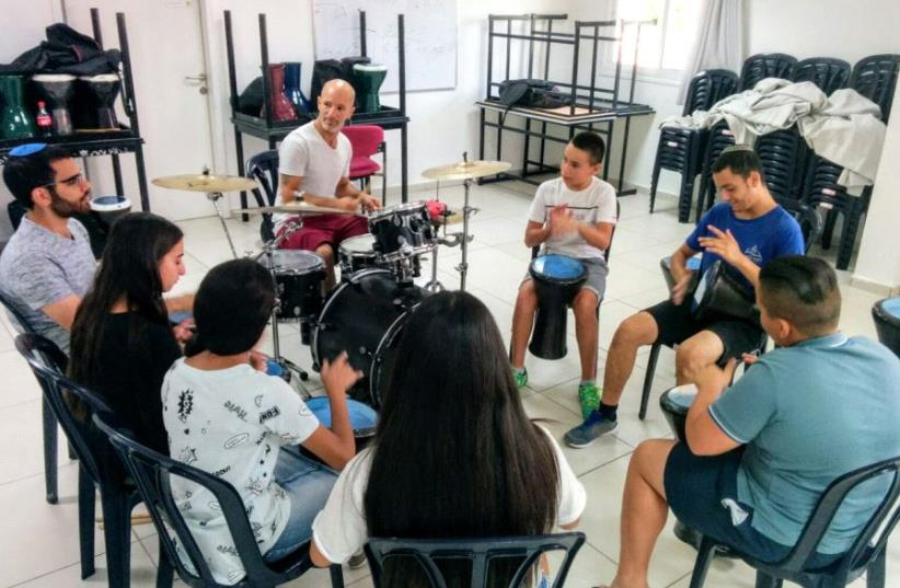 Participants at the Counterpoint summer camp in Dimona, July 2017. (photo credit: YESHIVA UNIVERSITY)