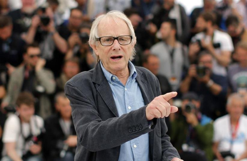 "Director Ken Loach poses during a photocall for the film ""I, Daniel Blake"" in competition at the 69th Cannes Film Festival in Cannes, France, May 13, 2016 (photo credit: JEAN-PAUL PELISSIER / REUTERS)"