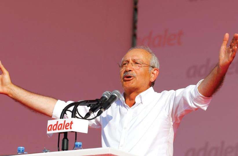 KEMAL KILICDAROGLU, leader of the opposition Republican People's Party (CHP) (photo credit: REUTERS)