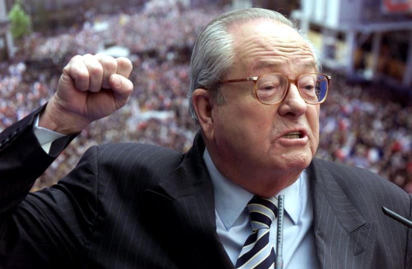National Front founder Jean-Marie Le Pen (photo credit: CHARLES PLATIAU / REUTERS)