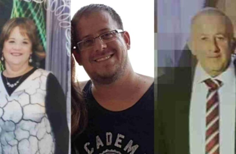 The three victims of the lethal attack in Halamish.  (photo credit: COURTESY OF THE FAMILY AND THE MUNICIPALITY OF ELAD)