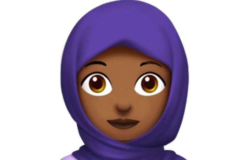 The new hijab emoji. (photo credit: APPLE)