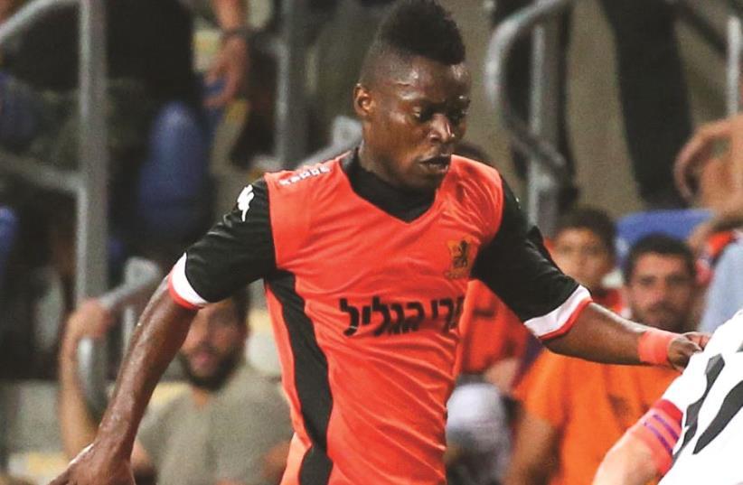 B'nei Yehuda striker Mavis Tchibota (photo credit: DANNY MARON)