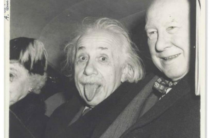 Iconic Albert Einstein 'tongue' photo (photo credit: NATE D. SANDERS AUCTIONS)