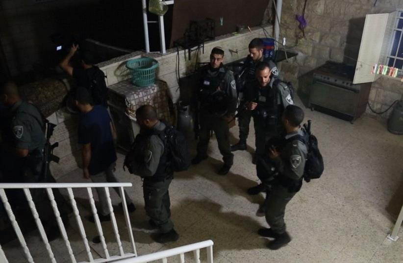 Police operations in Arab neighborhoods in Jerusalem. 03/08/2017  (photo credit: COURTESY ISRAEL POLICE)