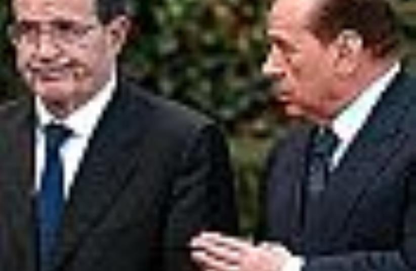 Berlusconi and Prodi (photo credit: AP)