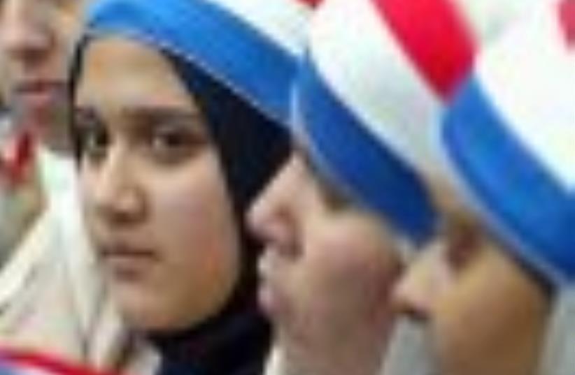 WesternMuslim girls 88ap (photo credit: AP)