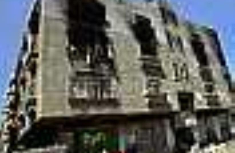 fatah house damaged 88 (photo credit: AP)