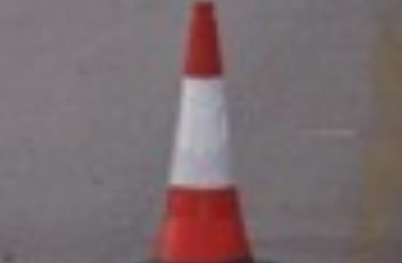 traffic cone road 88 (photo credit: Courtesy)