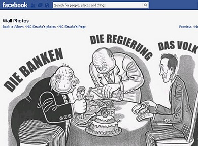 The cartoon from Strache's Facebook page