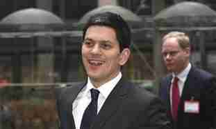 UK Foreign Secretary David Miliband.