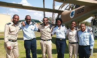 Ethiopian born IAF officers