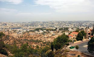 Gilo overlooks all of west Jerusalem