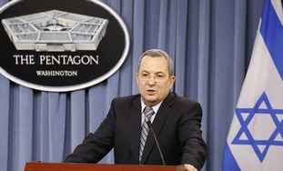 Barak speaks at Pentagon