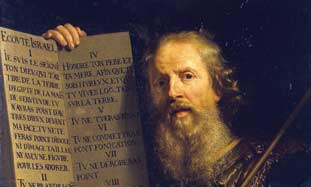 Ten Commandments painting by Phillipe de Champagne