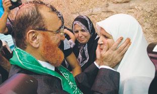 Abu Tir welcomed home by his family