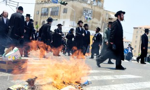Haredim riot in Jaffa
