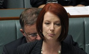 Australia's new Prime Minister Julia Gillard speak