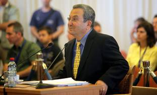 Barak testifies at the Turkel Committee