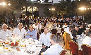GUESTS GATHER for the 'iftar' meal at the President's Residence on Tuesday evening.