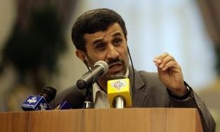 Ahmadinejad speaking to press