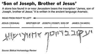 The Aramaic inscription