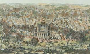 Ancient map of Jerusalem