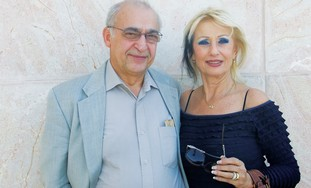PROF. MOUSSA YOUDIM and his wife Fruma. 'The Nobel