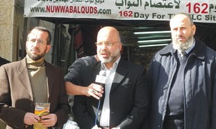 Members of the 'Hamas Three' at a press conference