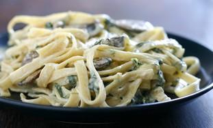 Fettuccini with mushrooms