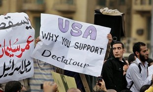 Egypt's protesters blame the US for their support.
