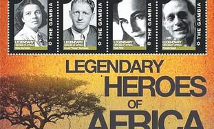 African stamps honoring Apartheid fighting Jews