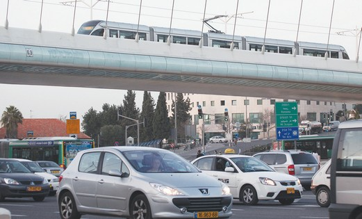Traffic in Jerusalem.