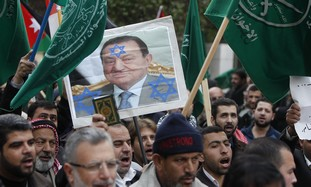 Muslim Brotherhood protest against Mubarak.